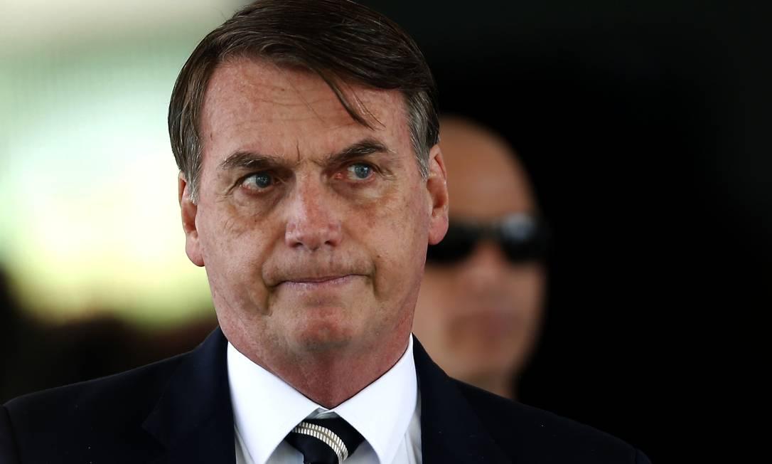 O presidente da República Jair Bolsonaro Foto: Jorge William / Agência O Globo