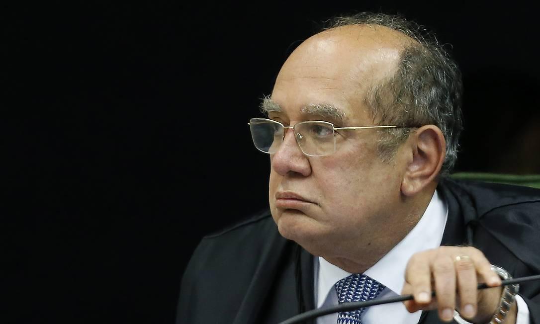 Ministro do Supremo Tribunal Federal Gilmar Mendes Foto: Jorge William / Agência O Globo
