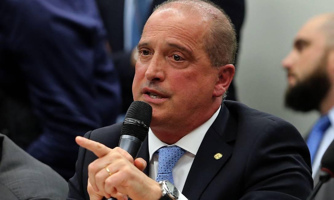 O ministro da Casa Civil, Onyx Lorenzoni Foto: Jorge William / Agência O Globo