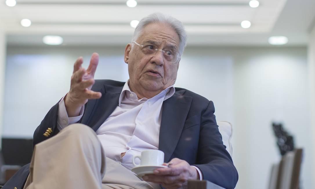 Fernando Henrique critica Bolsonaro por declaração sobre vítimas da ditadura militar Foto: Edilson Dantas / Agência O Globo