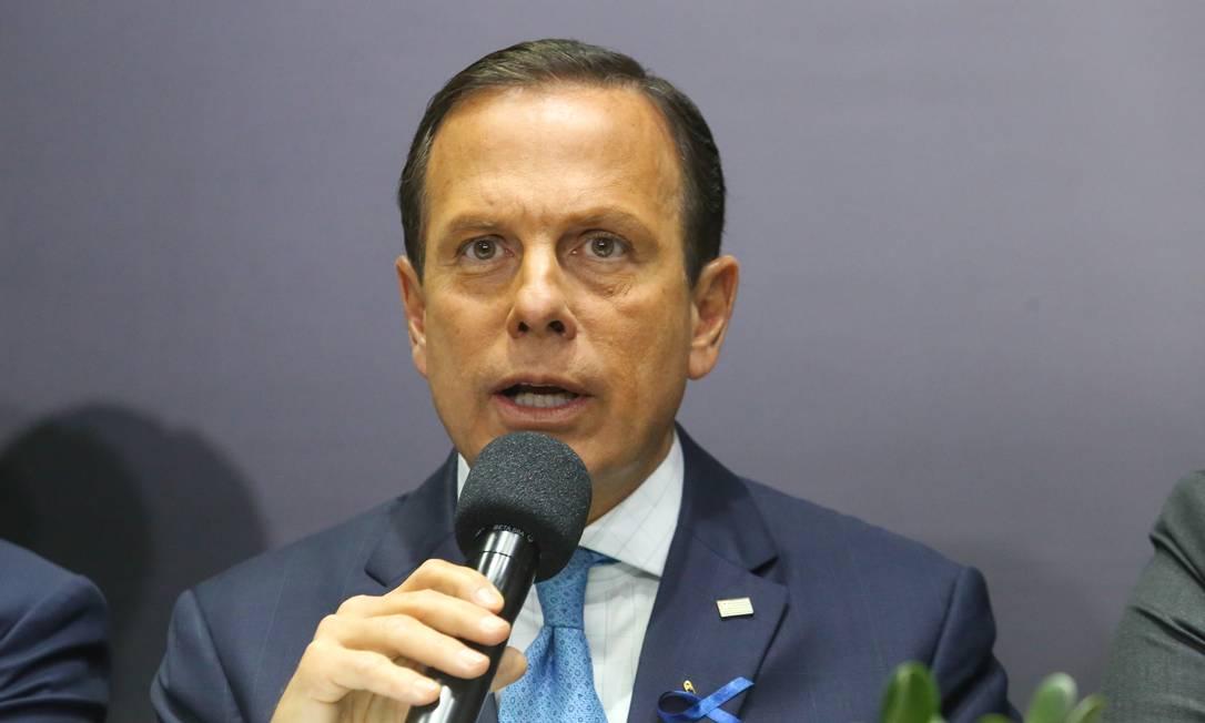 Doria construiu sua carreira política como antipetista e disputa agora com Bolsonaro essa marca Foto: Sergio Andrade / Agência O Globo