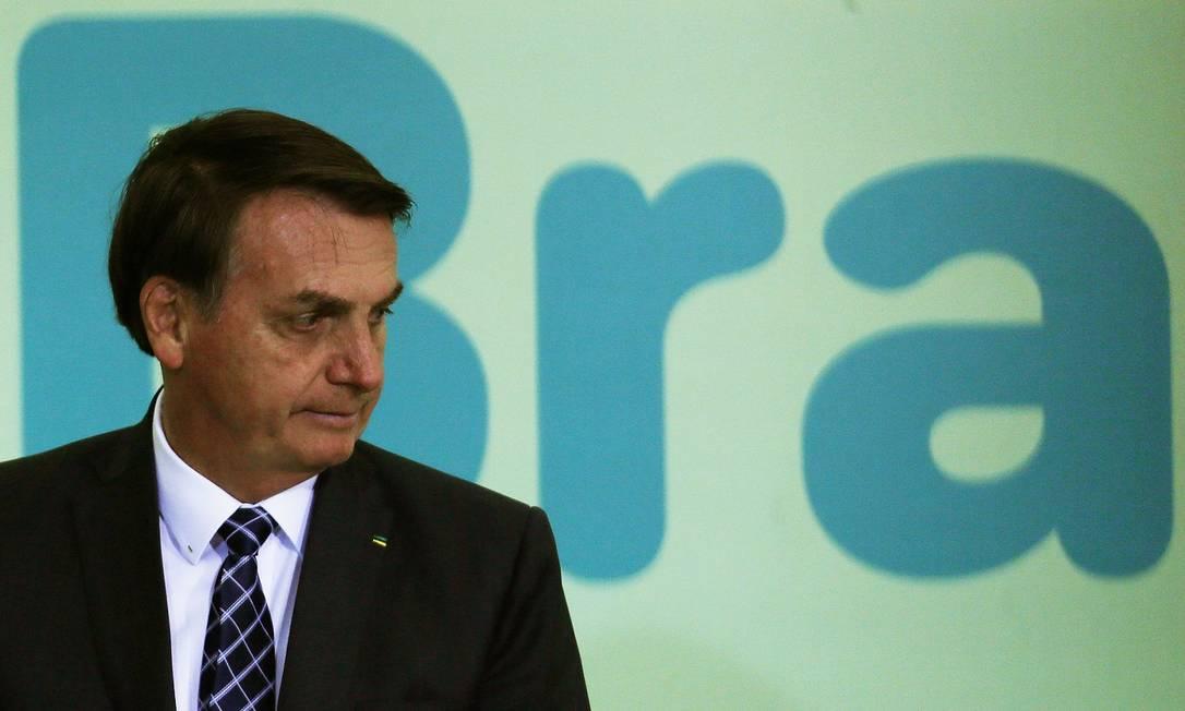 O presidente Jair Bolsonaro diz que a reforma administrativa será enviada ao Congresso em momento de 'menor atrito' Foto: Jorge William / Agência O Globo