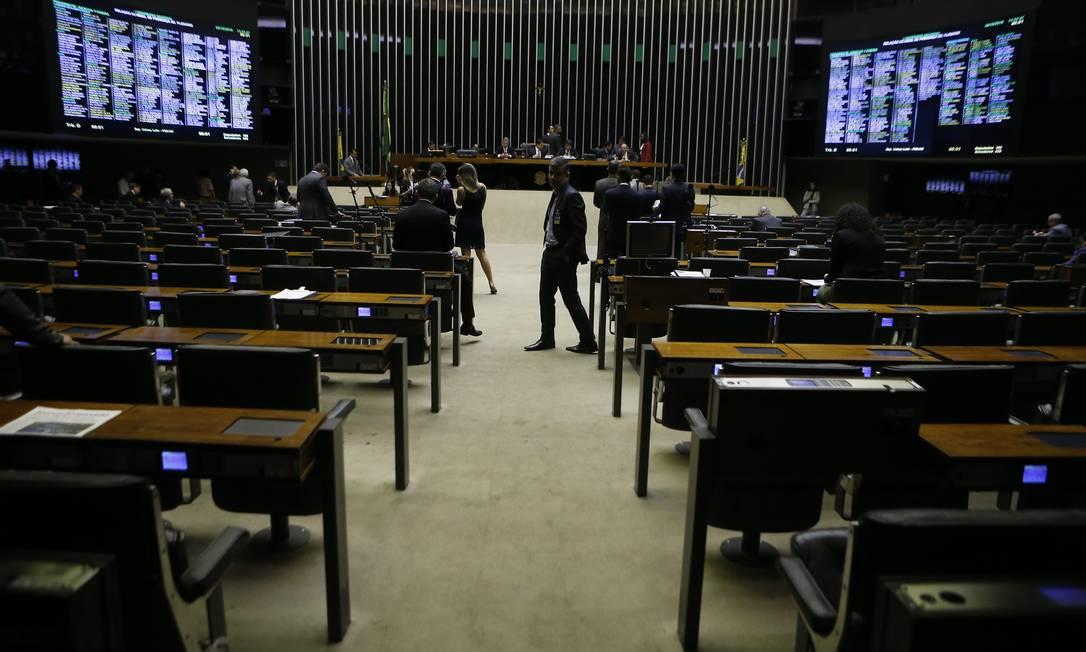 O plenário da Câmara dos Deputados (2019) Foto: Jorge William / Agência O Globo