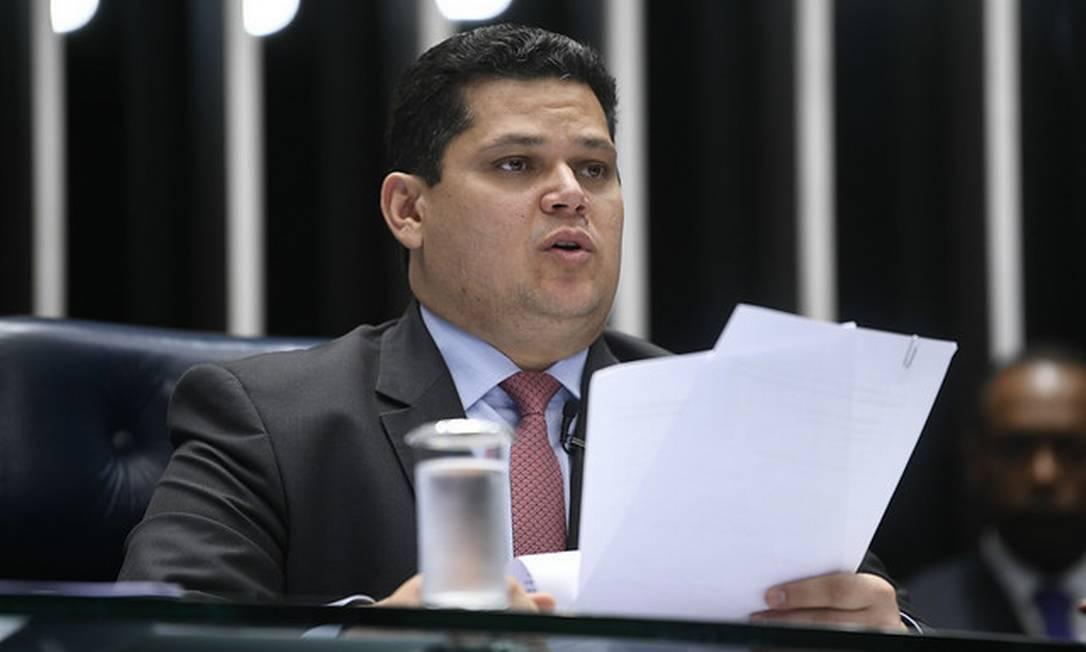 Presidente do Senado Federal, senador Davi Alcolumbre (DEM-AP) Foto: Pedro França/Agência Senado