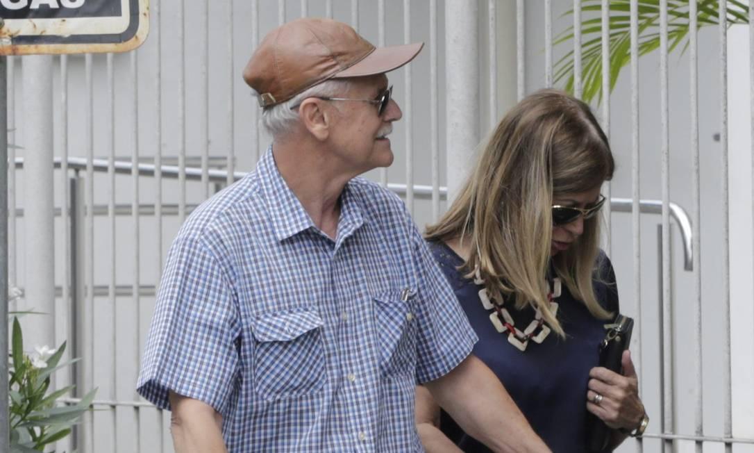 Guilherme Henrique dos Santos Hudson, Ana Maria Siqueira, compareceram ao MP em Resende na tarde desta quinta-feira, mas não prestaram depoimento Foto: Domingos Peixoto / Agência O Globo