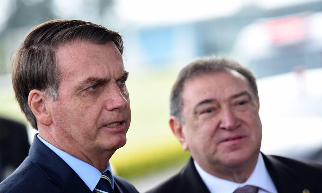 O Presidente da Republica Jair Bolsonaro nesta quint-feira no Palacio da Alvorada Foto: Claudio Reis /FramePhoto / Agência O Globo