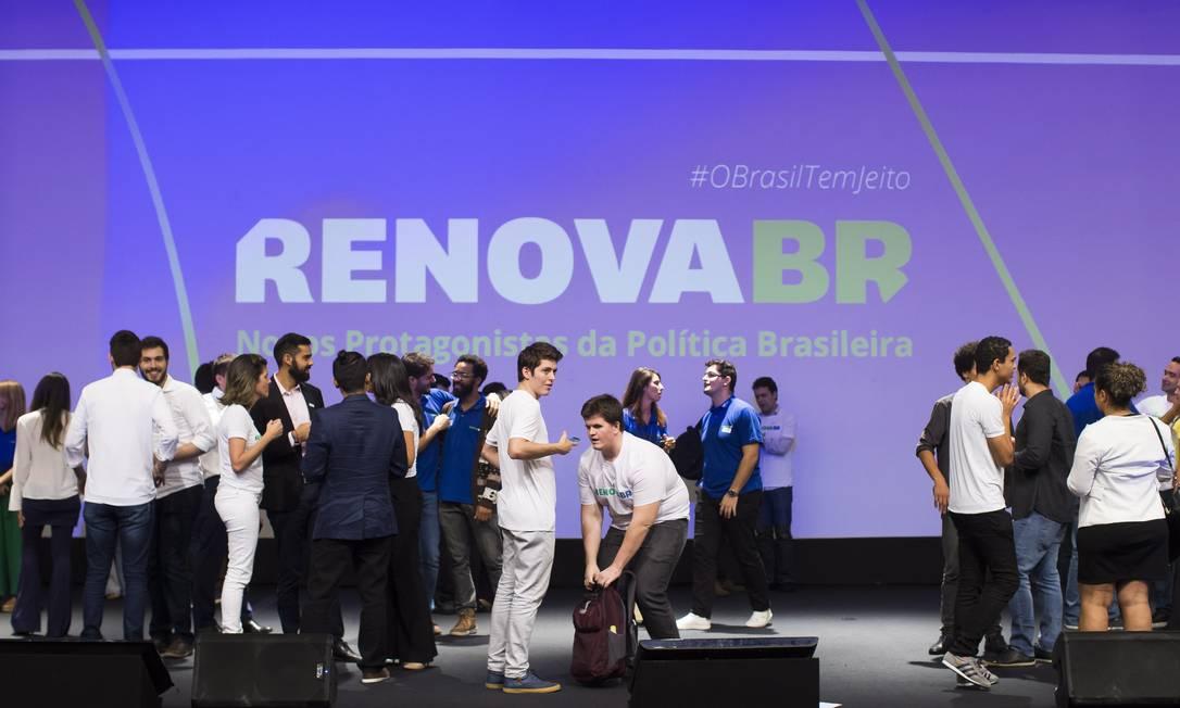 RenovaBR, iniciativa de capacitação de novas lideranças políticas Foto: Edilson Dantas / Agência O Globo