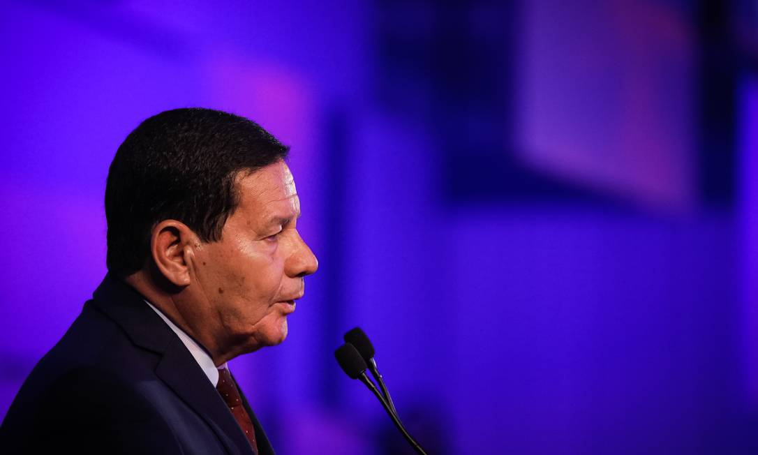 Vice-presidente Hamilton Mourão Foto: Bruno Batista/Vice-Presidêcia / Agência O Globo