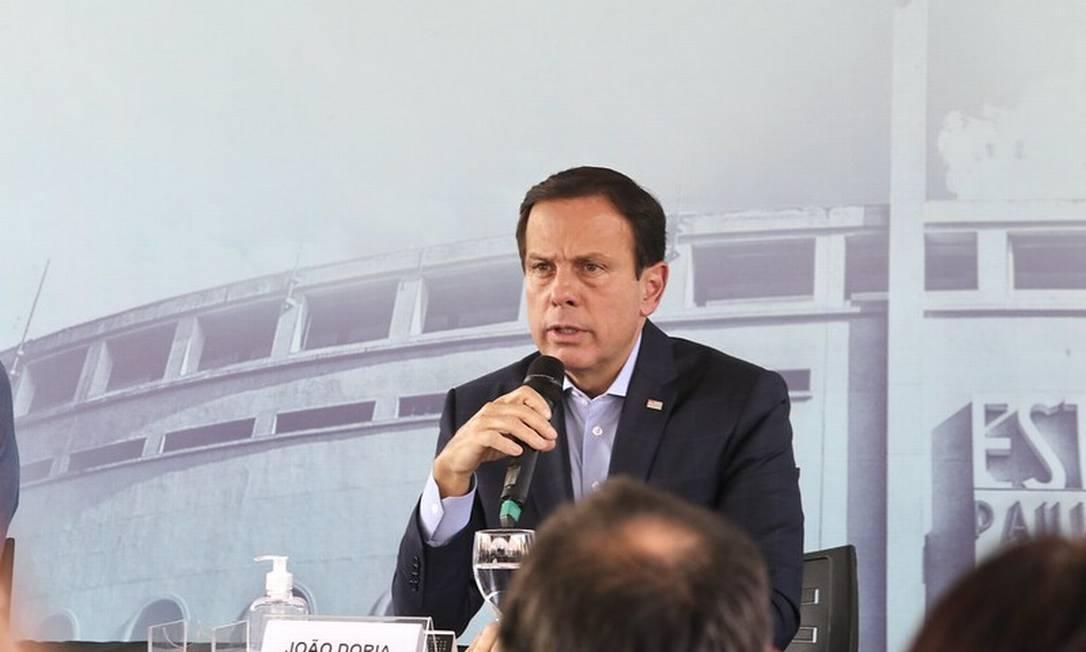 O governador de São Paúlo, João Doria, disse que Bolsonaro foi moderado e teve bom senso em pronunciamento Foto: Sergio Andrade / Divulgação