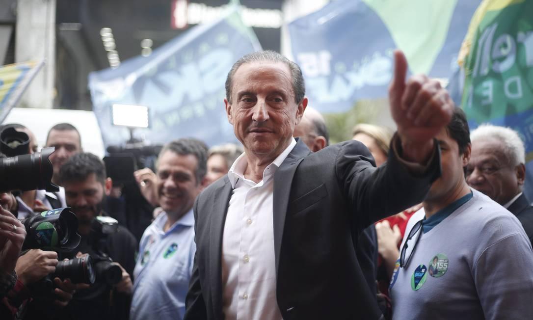 O presidente da Fiesp, Paulo Skaf, durante campanha em 2018 Foto: Marcos Alves / Agência O Globo
