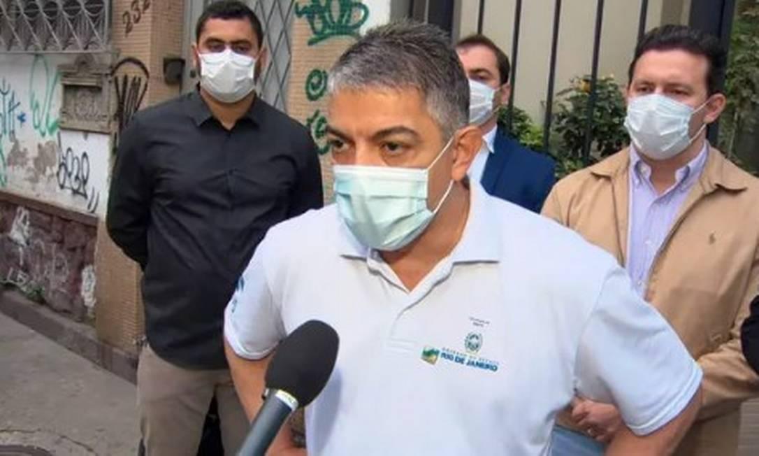 O secretário estadual de Saúde, Fernando Ferry Foto: TV Globo / Reprodução