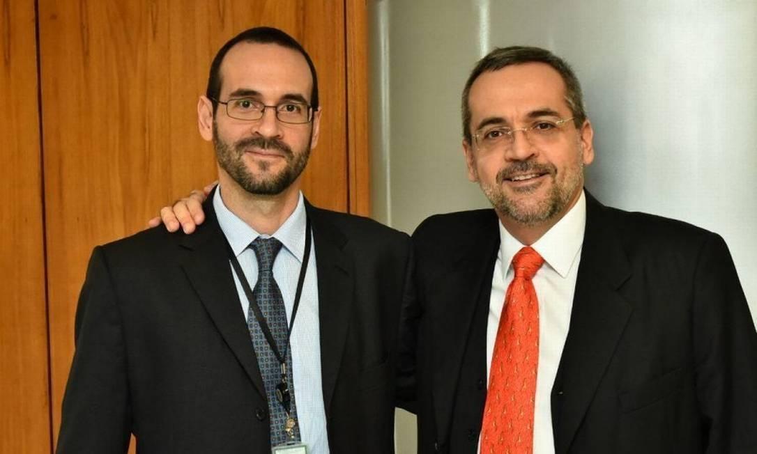 Arthur e Abraham Weintraub Foto: Reprodução