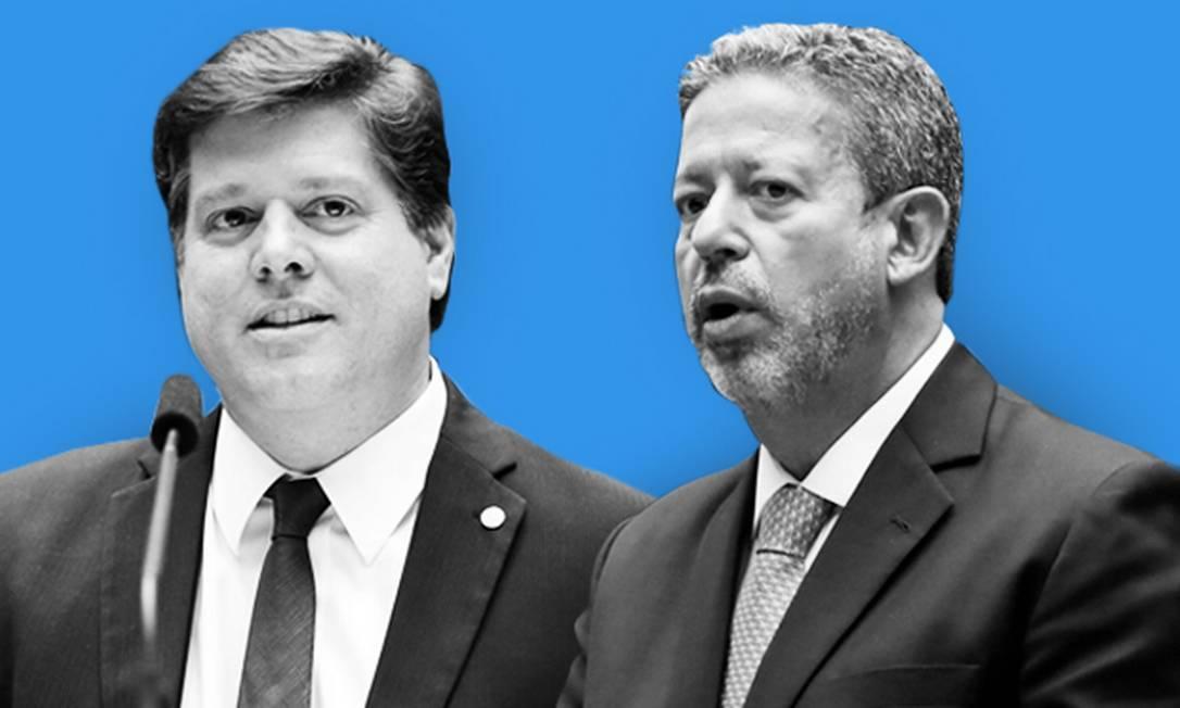 Os candidatos à presidência da Câmara Artur Lira e Baleia Rossi Foto: Editoria de Arte