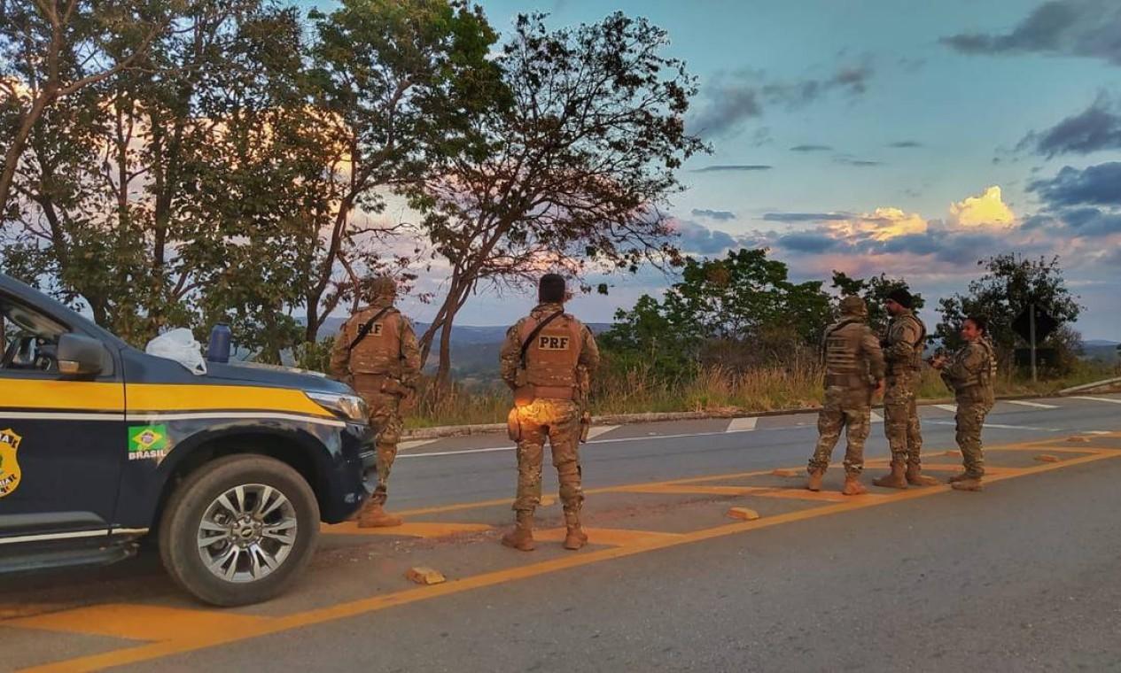Ação foi montada pelas secretarias de Segurança Pública de Goiás e do DF para prender o foragido Foto: Secretaria de Segurança Pública de Goiás / Reprodução