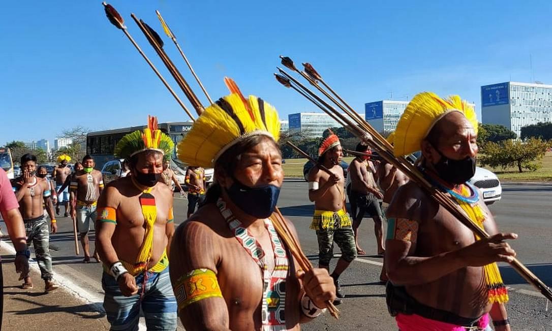 Objetivo dos grupos é lutar contra o projeto que pode facilitar a exploração de recursos naturais em terras indígenas Foto: Divulgação