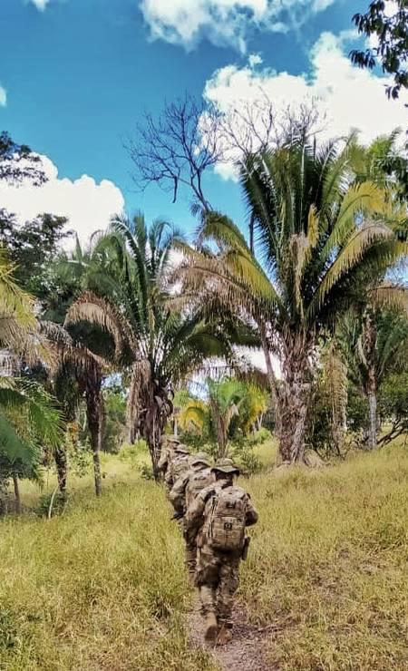 Força-tarefa montada pelas secretarias de Segurança Pública de Goiás e do DF tem base no município de Cocalzinho (GO) Foto: Divulgação
