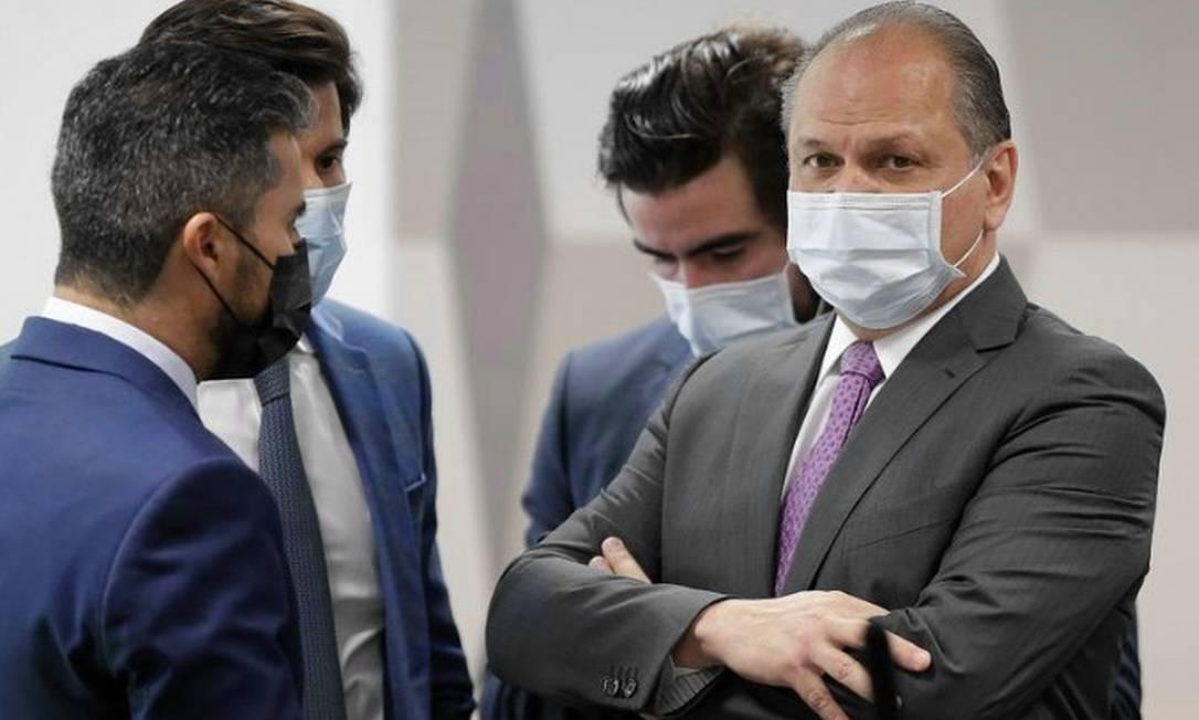 Deputado federal Ricardo Barros em depoimento na CPI da Covid Foto: Cristiano Mariz/Agência OGlobo.