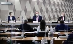 CPI da Covid vota o relatório final que já conta com 81 indiciamentos Foto: Pedro França / Agência O Globo