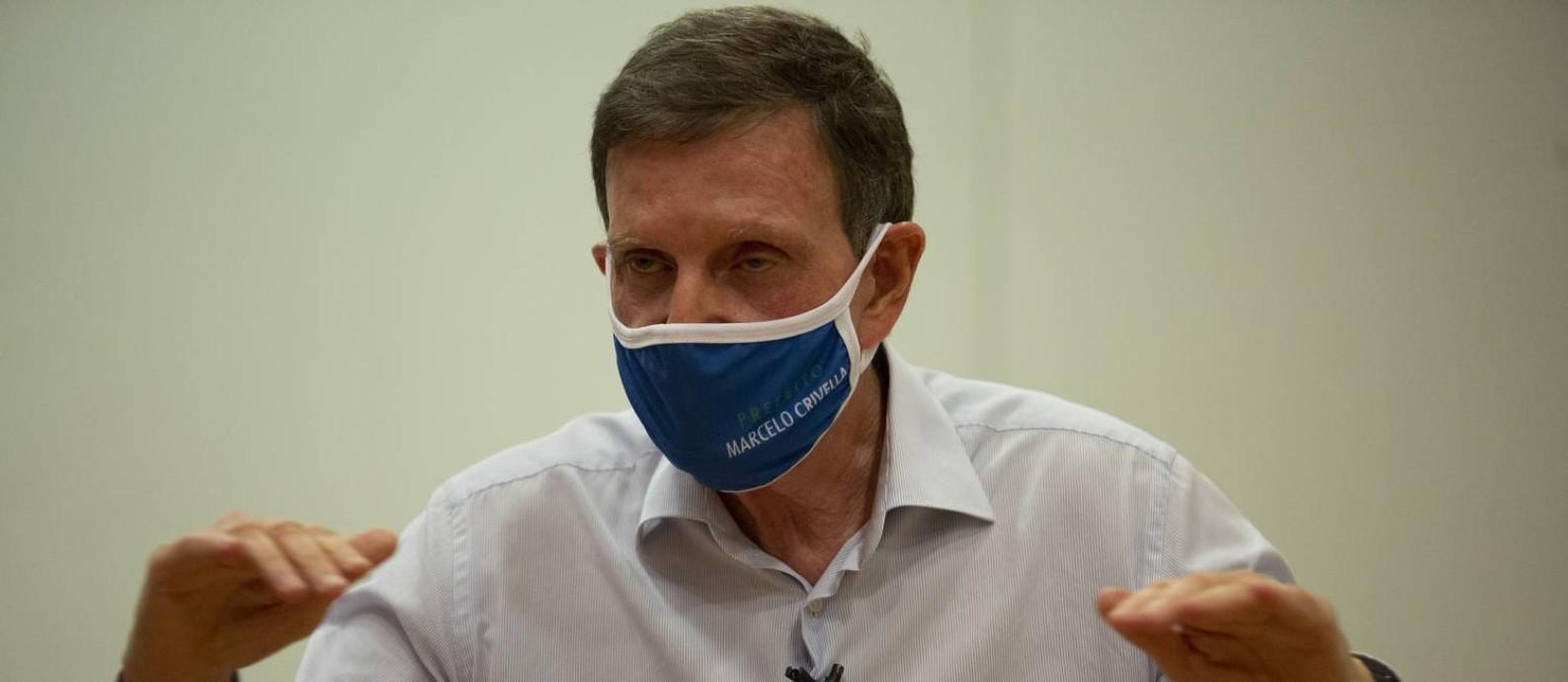 O atual prefeito Marcelo Crivella tenta a reeleição Foto: Gabriel Monteiro / Agência O Globo