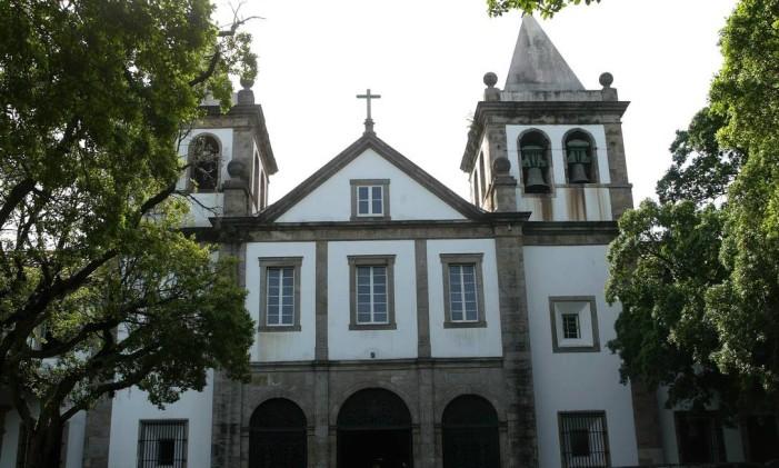 Fachada do Mosteiro de São Bento Foto: William de Moura / Agência O Globo