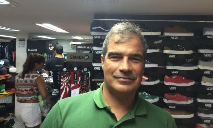 Marcos Cavalcante, administrador da Galeria River, na Rua Francisco Otaviano e morador de Copacabana Foto: Gustavo Goulart / Agencia O Globo