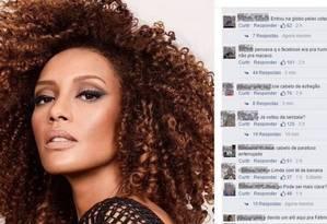 Taís foi vítima de comentários racistas em rede social Foto: Reprodução