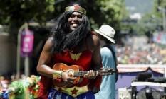 Bloco Suvaco de Cristo, na rua Jardim Botânico Foto: Gabriel de Paiva / Agência O Globo