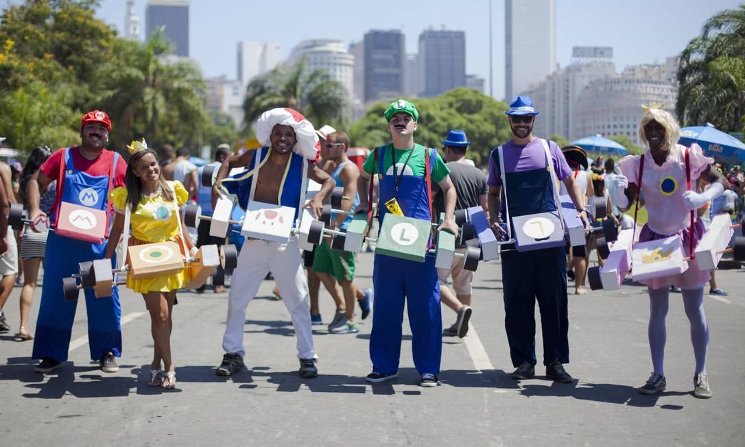 Grupo homenageou o videogame Mario Kart no Sargento Pimenta Gabriel Santos / Riotur