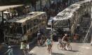 Magé amanheceu com cenário de destruição Foto: Gabriel de Paiva / Agência O Globo