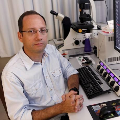 Stevens Rehen lidera estudo sobre a ação do zika em minicérebros Foto: Gustavo Stephan / Agência O Globo