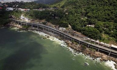 Novo Joá: ampliação do elevado presenteia a cidade com 3.100 metros de ciclovia à beira mar Foto: Joao dos Anjos
