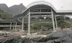 Trecho da Ciclovia Tim Maia, em São Conrado, que ainda não foi inaugurado: projeto em discussão na Câmara prevê mais rigor em obras públicas Foto: Custodio Coimbra