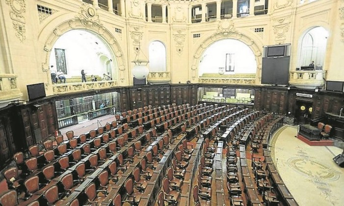 O plenário da Assembleia Legislativa do Rio Foto: Gabriel de Paiva