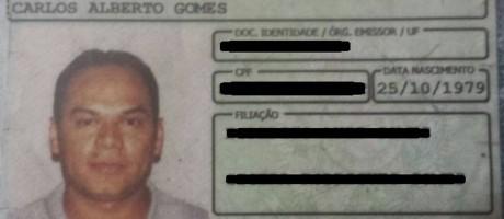 Bala perdida atingiu rosto de taxista em Niterói Foto: Reprodução