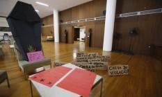 Estadantes fazem protesto no gabinete do reitor da UFRJ Foto: Pablo Jacob / O Globo