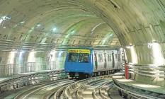 Durante teste realizado anteontem na Linha 4, um trem circulou pela primeira vez entre as estações de Ipanema e da Barra da Tijuca Foto: Divulgação