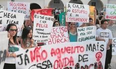 Alunas da Rural fazem protesto contra falta de segurança e estupros há dois anos Foto: Cléber Júnior / 22-05-2014