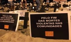 De acordo com o Rio de Paz, cerca de 200 pessoas participaram do protesto em Niterói Foto: Divulgação