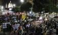 Mais de mil pessoas fazem protesto no Centro do Rio pelo fim da cultura do estupro