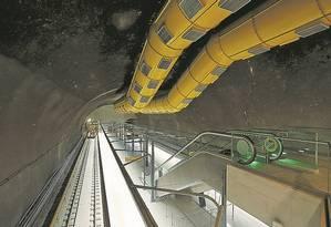 O término da Linha 4 do metrô, que vai ligar Ipanema à Barra, é um dos principais obstáculos enfrentados pelo estado, que precisa de R$ 1 bilhão para concluir a obra. O trecho é fundamental para a cidade durante os Jogos Foto: Gabriel de Paiva/15-6-2016