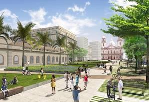 Projeto de revitalização do Centro do Rio - Esplanada candelária Foto: Divulgação