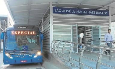 O BRT Transolímpico em teste: só com Riocard especial Foto: Divulgação