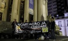 Participantes de ato esperam ser recebidos por deputados nesta sexta-feira Foto: Pedro Teixeira / Agência O Globo