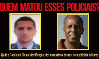 Portal dos Procurados lança cartaz para pedir ajuda para encontrar assassinos de policiais Foto: Divulgação
