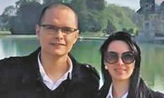 Renato e Gisele: ele pede o fim da violência Foto: Reprodução do Facebook