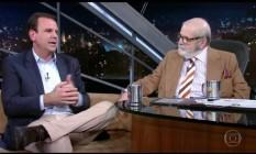 Prefeito do Rio foi entrevistado no 'Programa do Jô' Foto: Reprodução/TV Globo
