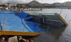 Local da vela dos Jogos, rampa na Marina da Glória é danificada por ventos fortes Foto: Globoesporte.com