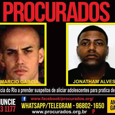 Portal dos Procurados lançou cartaz, nesta terça-feira, com imagens de suspeitos Foto: Divulgação/ Portal dos Procurados