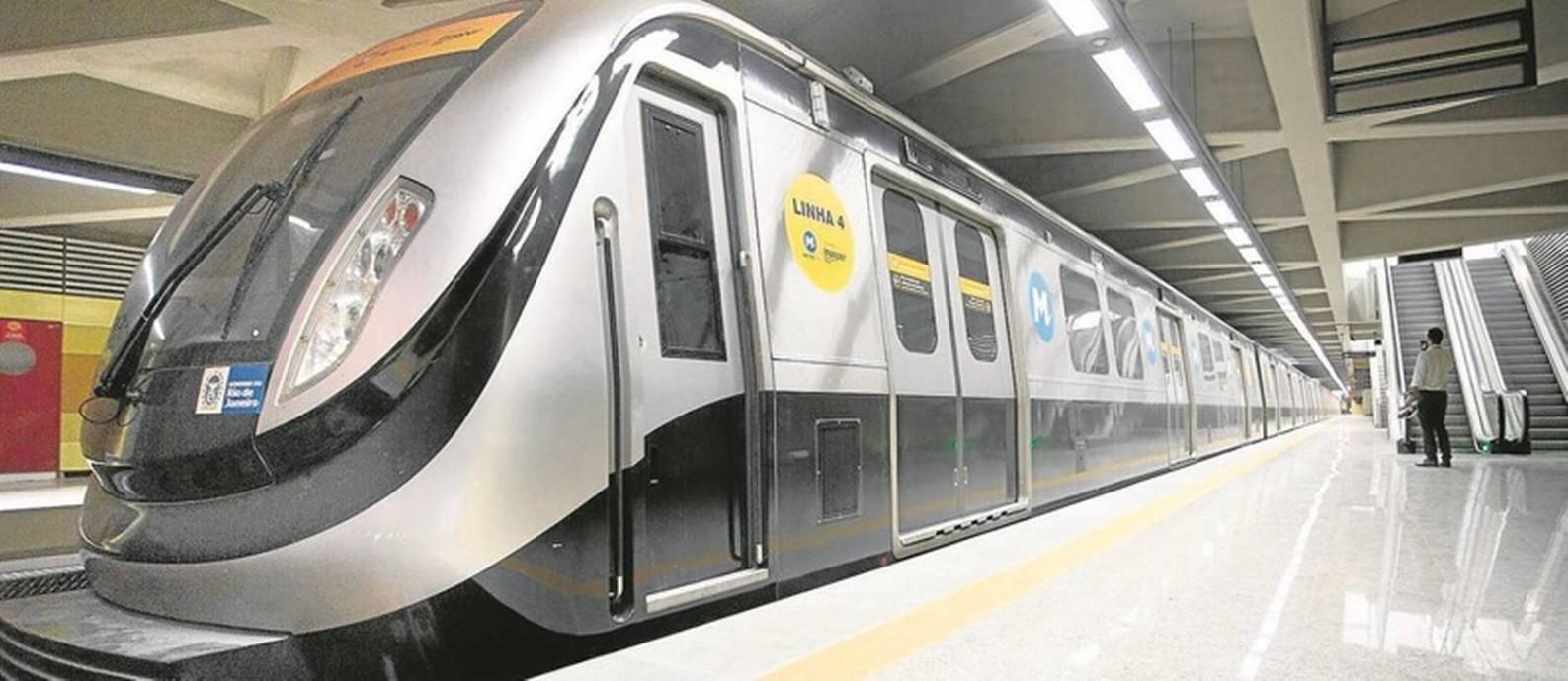 A estação Jardim Oceânico, na Barra da Tijuca: análise do TCE sobre as obras do metrô compreende despesas de R$ 8,4 bilhões, contratadas até dezembro de 2015 Foto: Márcia Foletto