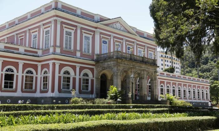 O Museu Imperial de Petrópolis, antigo palácio do imperador Don Pedro II e seua família, é uma das trações da cidade Foto: Felipe Hanower / Agência O Globo